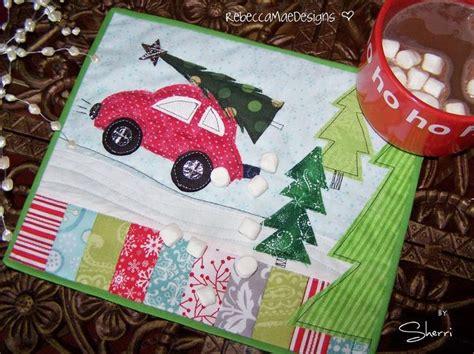 christmas tree mug rug pattern christmas mug rug mug rugs pinterest christmas trees