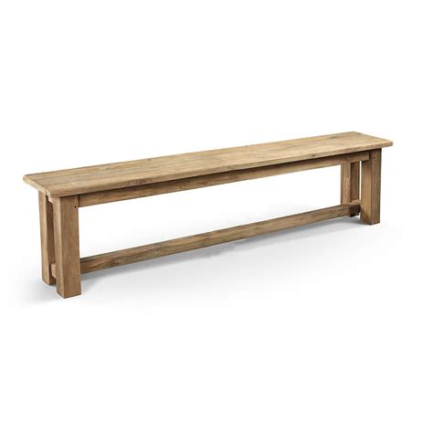 recycled wood bench reclaimed wood parsons bench by mobius living