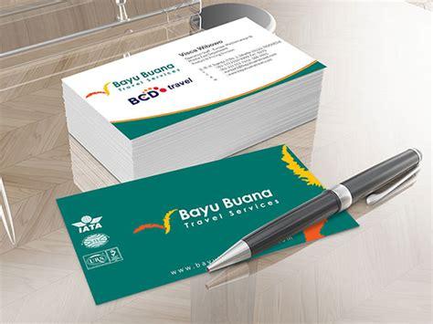 desain kartu nama travel agent select stationery design package sribu