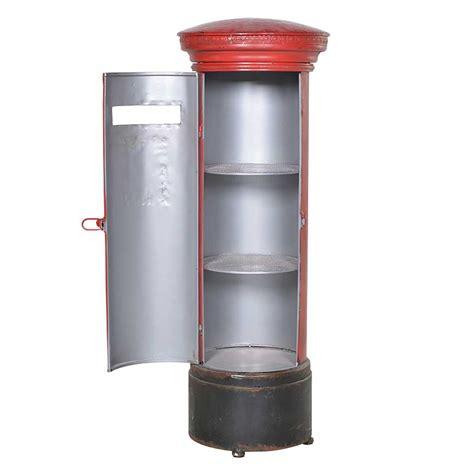 Red pillar box shelf unit ? Hydes Furniture & Interiors