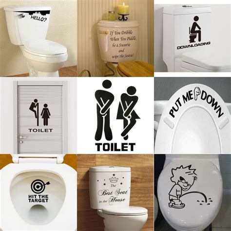 toilet seats wall stickers quote bathroom decoration