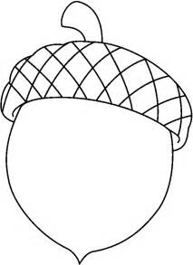 Acorn Drawing Outline by Acorn Coloring Pages For Az Coloring Pages