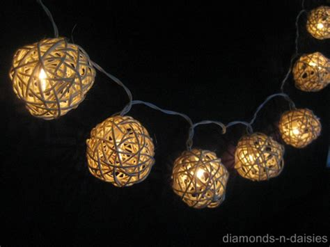 rattan string lights 20 warm white wicker rattan led string lights