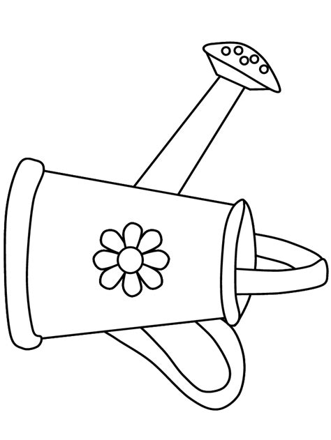 watering can coloring page coloring home