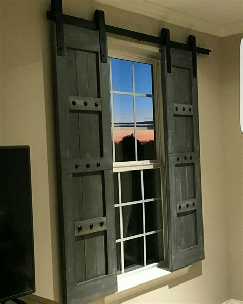 Barn Door Windows Decorating Interior Window Barn Shutters Sliding Shutters Barn Door Shutter Hardware Packages Available