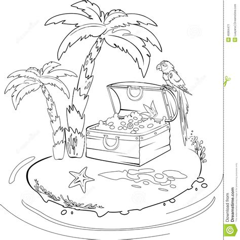 Treasure Island Stock Photo Image 46964471 Treasure Island Coloring Pages