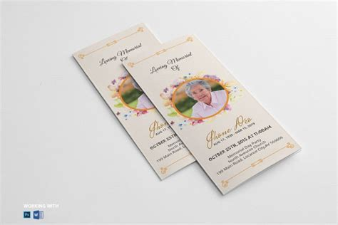 Funeral Brochure Template 20 Funeral Brochure Template Word Indesign And Psd