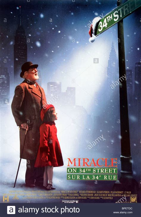 Miracle On 34th St 1994 Free Richard Attenborough Boy Poster Miracle On 34th 1994 Stock Photo Royalty Free Image