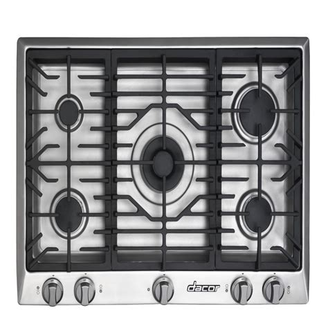Dacor Cooktops - shop dacor distinctive 5 burner gas cooktop stainless