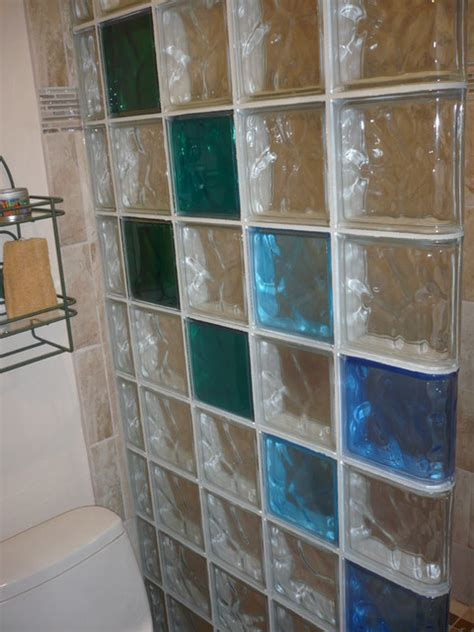 Glass Block L Ideas by Protect All Glass Block Shower Wall In An Open Walk In