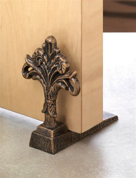 decorative door stopper cast iron door stopper holder fleur de lis french doors stop decorative home ebay