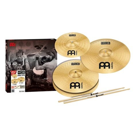 Meinl Cymbal Set Hcs14162010s Paket Meinl Cymbal Hcs Series meinl hcs cymbal pack w 13 hi hat 14 crash 10 splash promark 5a sticks 840553005004 ebay