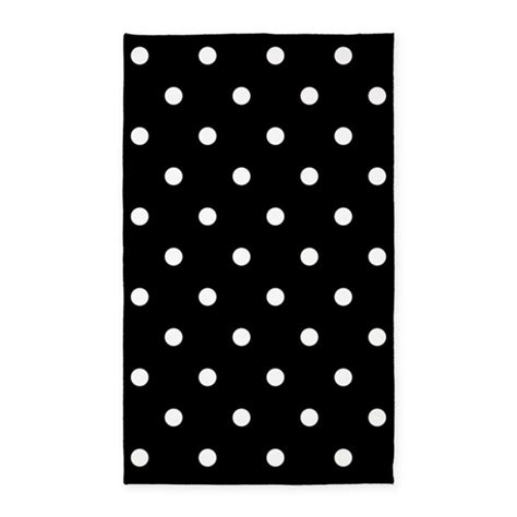 polka dot rug black and white black and white polka dots area rug by beautifulbed