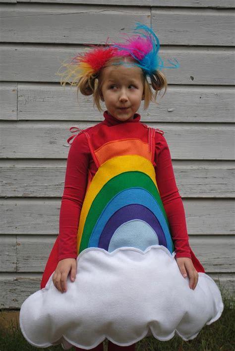 Handmade Toddler Costumes - handmade felt rainbow costume for toddler to wear for
