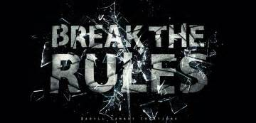 break the rules by daryllsambatcreation on deviantart