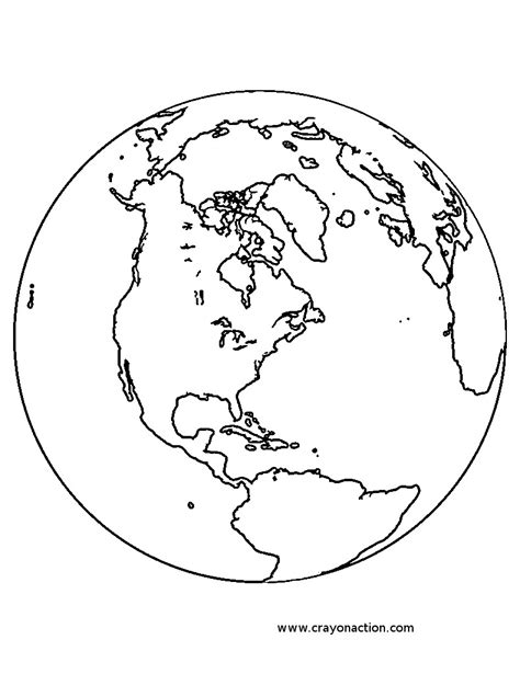 Free Coloring Pages Of Globe Of The World Globe Coloring Pages