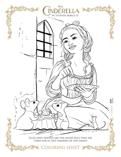New Cinderella Coloring Pages | new disney s cinderella coloring pages and activity sheets