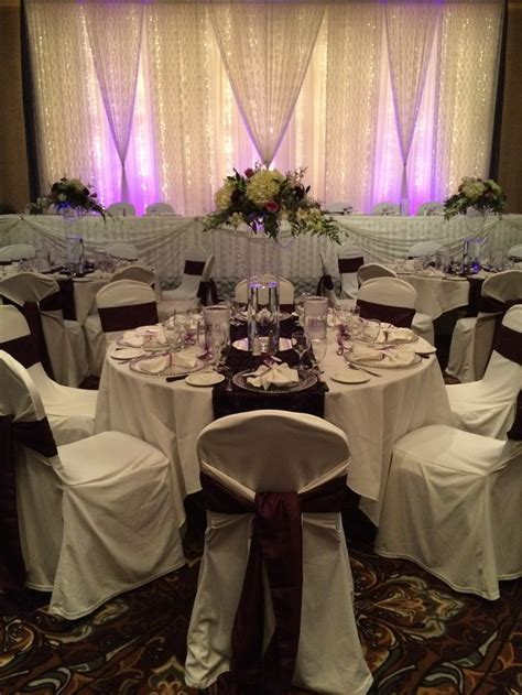 Exquisite Eggplant Wedding #lethbridgeeventrentals #