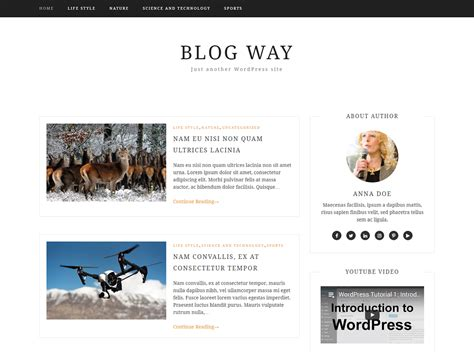 change layout of wordpress blog best new wordpress themes prelovac com