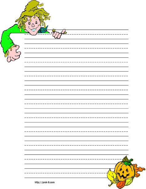 printable paper pumpkin 6 best images of free printable halloween lined writing