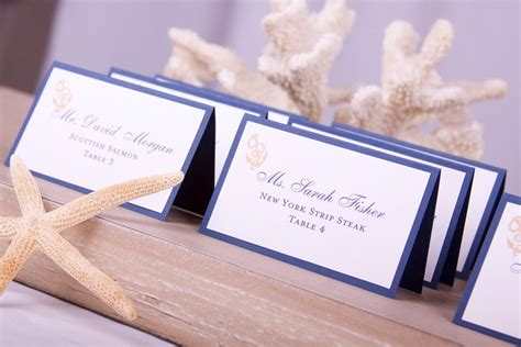 dinner table name cards nautical cards place cards anchor sailor
