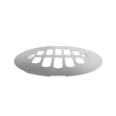 brasstech 4 1 4 in snap in shower drain cover in polished