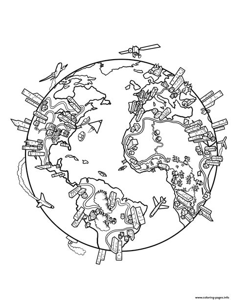 coloring page info world map earth coloring pages printable