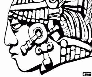 imagenes de caras mayas juegos de mayas imperio maya para colorear imprimir y