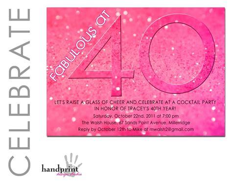 40th birthday invitation adult birthday invitation