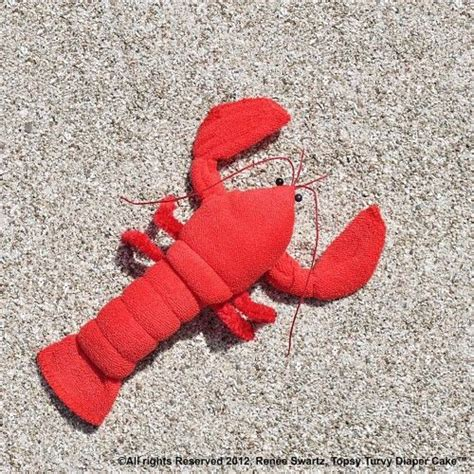 cute lobster pattern washcloth lobster crawfish for diaper cake instructional