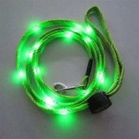 led leash green led light up leash pet walking rope with led 3 setting ebay