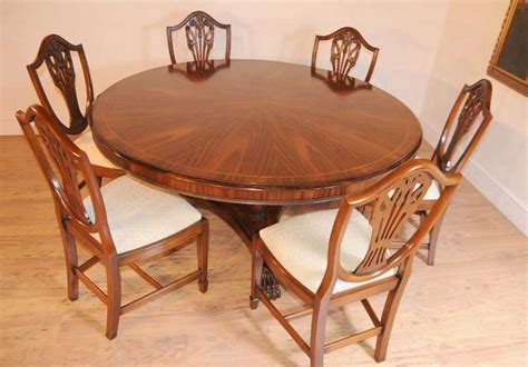 Regency Dining Table And Chairs Regency Dining Set Table Mahogany Swag Chairs