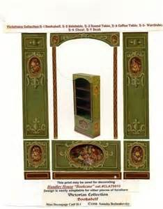 Decoupage Bookcase How To Make Dollhouse Furniture Out Of Paper Woodworking