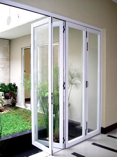 sell folding doors glass aluminum  indonesia  renovasi medancheap price