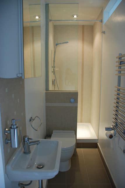 bijou  compact ensuite contemporary bathroom