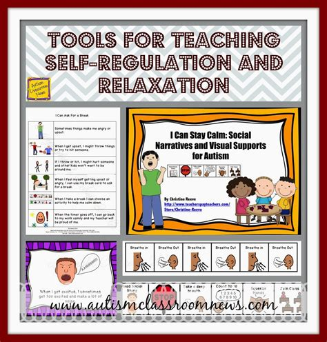 Tools for Teaching Self-Regulation and Relaxation - Autism ... Examples Of Self Regulation In The Classroom