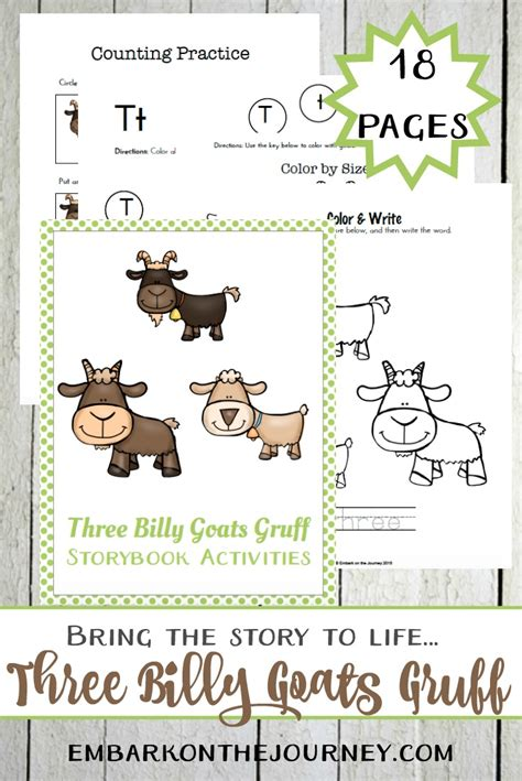 Three Billy Goats Gruff Story Printable