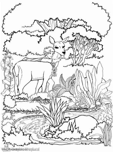 wood fairy coloring page kleurplaten hert kleurplaten kleurplaat nl