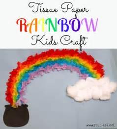 Tissue Paper Rainbow Craft - tissue paper rainbow craft stpatricksday st