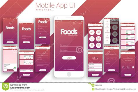 ui design tutorial medicine delivery app homescreen mobile sign in and login ui ux design royalty free stock