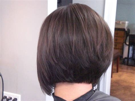 a line haircuts front and back views stacked bob hairstyles back view