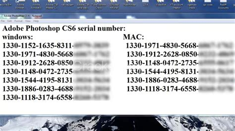 adobe illustrator cs6 serial key list adobe photoshop cs6 serial number crack full free download