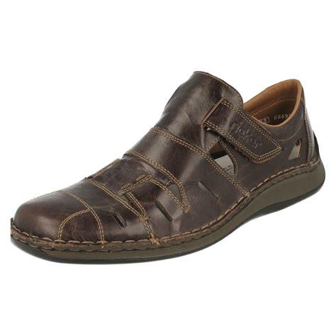 wide sandals mens mens rieker wide closed toe sandals 05267 ebay