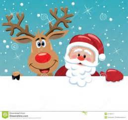 weihnachtsmann und rudolph rotwild lizenzfreie stockfotografie bild 21742017