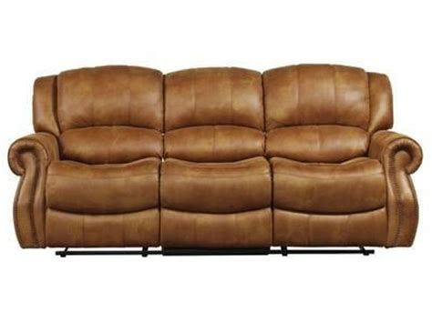 polyester leather couch this plush saddle colored faux leather sofa reclining 100