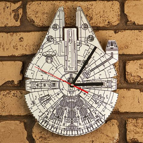 millennium star star wars millennium falcon laser engraved clock sci fi