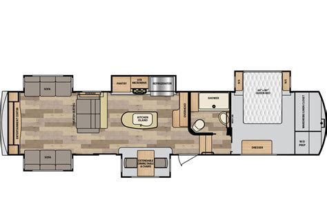 winnebago fifth wheel floor plans destination floorplans winnebago rvs