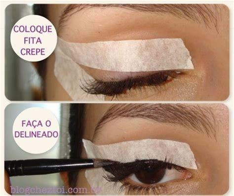 eyeliner tutorial easy vintage winged eyeliner tutorial using tape crafty stuff