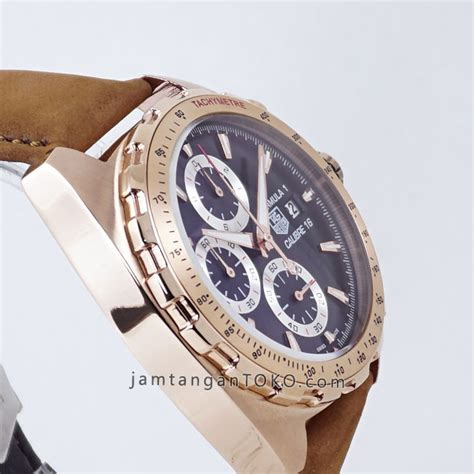 Jam Tangan Tagheuer Black Rosegold Brown Leather Grade Semi 1 harga sarap jam tangan tag heuer formula 1 rosegold calibre 16 caz2010 brown leather
