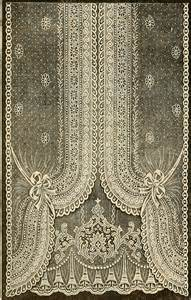 Antique Lace Curtains Vintage Ephemera Nottingham Lace Curtain 1912